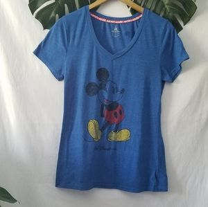 Disney Parks T Shirt Mickey Mouse Graphic Med Blue